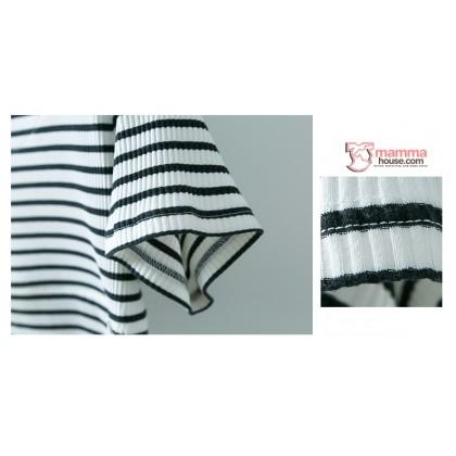 Nursing Tops - V Comfy Stripe