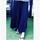 Maternity Long Pants - Trumpet Cotton Dark BLUE