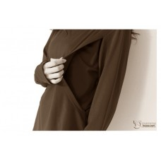 Nursing Tops - Long Neck Stripe Black
