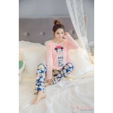 Maternity Pajamas - Long Mickey Sweet