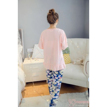 Maternity Pajamas - Long Mickey Sweet