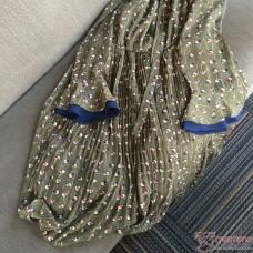 Maternity Dress - Long Chiffon Silk Flora