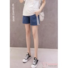 Maternity Shorts - Side Line Jeans Causal
