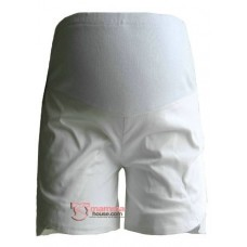 Maternity Shorts - Soft White