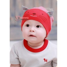 Baby Hat - Little Cat Red