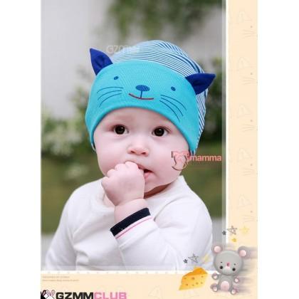 Baby Hat - Little Cat Blue