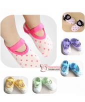 Baby Socks - Korean Polka Shoes (6 colors)