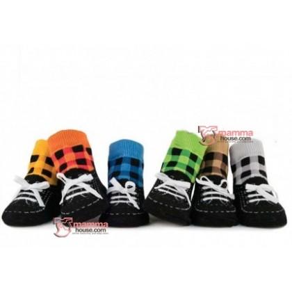 Baby Socks - Grid Shoes Boy (6 colors)