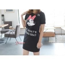 Nursing Dress - Hey Mickey (Red, White or Black)