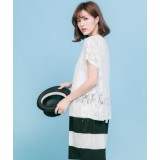 Nursing Dress - Chiffon White Black