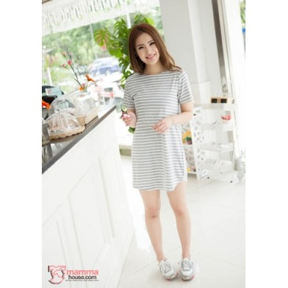Nursing Tops - KR Stripe Light Grey or Dark Grey