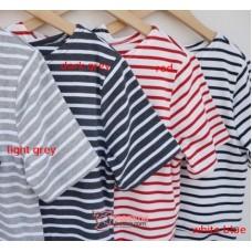 Nursing Tops - KR Stripe Light Grey or Dark Grey