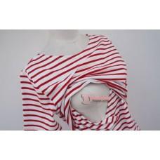 Nursing Tops - KR Stripe White Blue