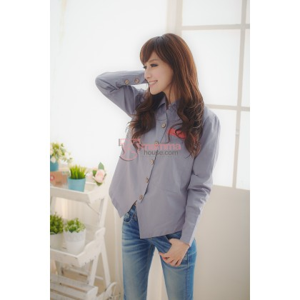 Nursing Tops - Long Smart Grey