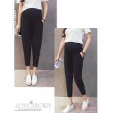 Maternity Pants - Working Ankle Length Black (S,M~XXL)