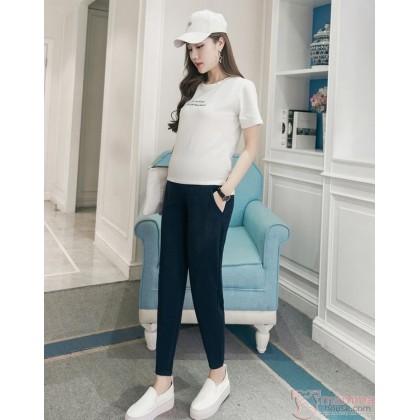 Maternity Pants - Working Ankle Length Dark Blue (S,M~XXL)