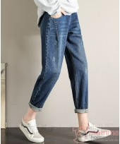 Maternity Jeans - Straight Casual Dark Blue