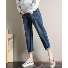 Maternity Jeans - Straight Casual Dark Blue