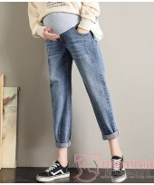 Maternity Jeans - Straight Casual Jeans Blue