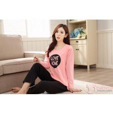 Mamma Pajamas - Long Love Home Pink