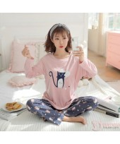 Mamma Pajamas - Long Kitten Pink
