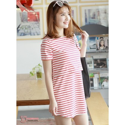 Nursing Tops - KR Stripe Red