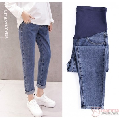 Maternity Jeans - Straight Style Dark Blue