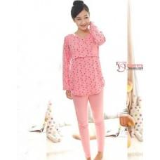 Mamma Pajamas - Long Little Bear Pink