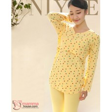 Mamma Pajamas - Long Little Bear Yellow
