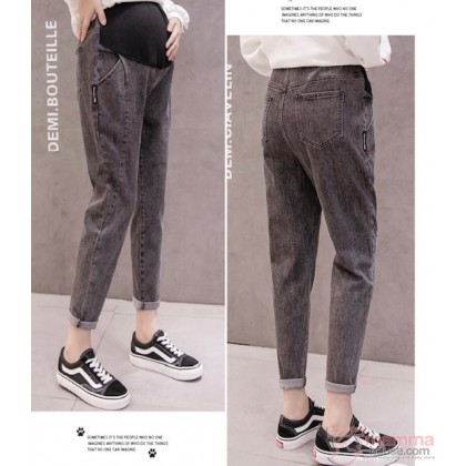Maternity Jeans - Straight Line Black
