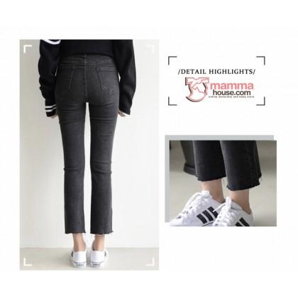 Maternity Jeans - Straight Slim Black