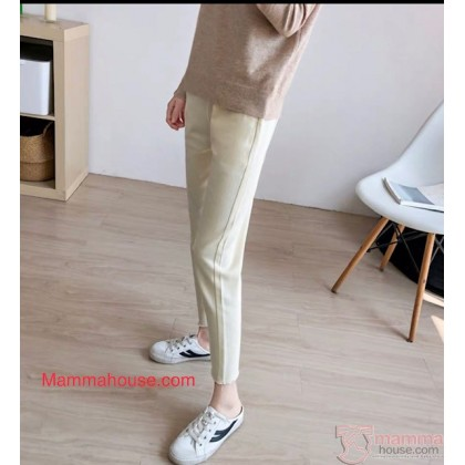 Maternity Jeans - Straight Rice White