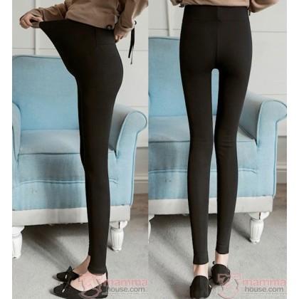 Maternity Legging - Long Slim cotton Dark Grey or Black or Light Grey