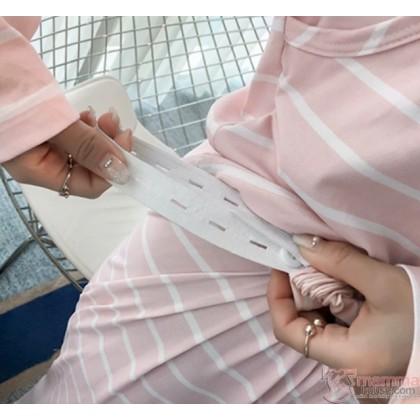Maternity Nursing Pajamas - Mickey Stripe Pink