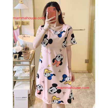 Mamma Pajamas - Dress Mickey Pink