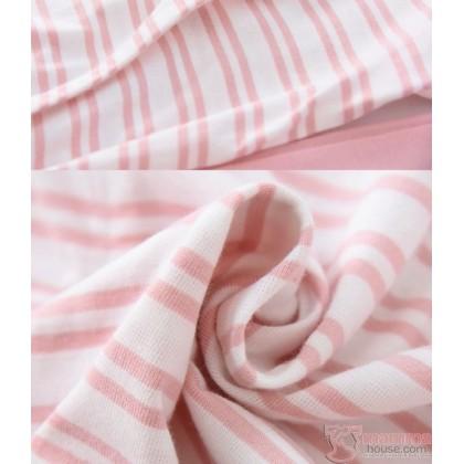 Mamma Pajamas - JP Stripe White Navy Blue (set)