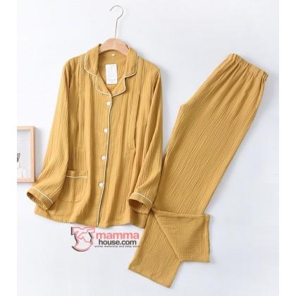 Mamma Pajamas - JP Long Yellow (set)