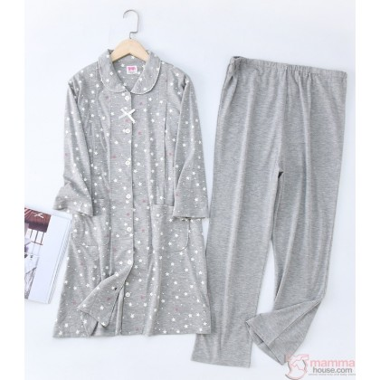 "Mamma Pajamas - JP 7"" Sleve Blue or Grey (set)"