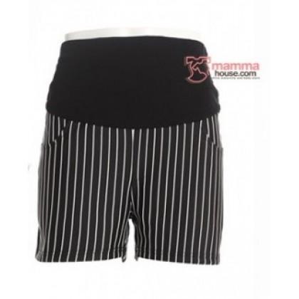 Maternity Shorts - Vert Stripe (Black or White)