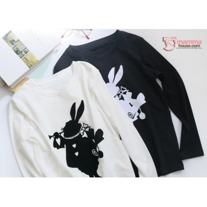 Nursing Tops - Long Rabbit Black