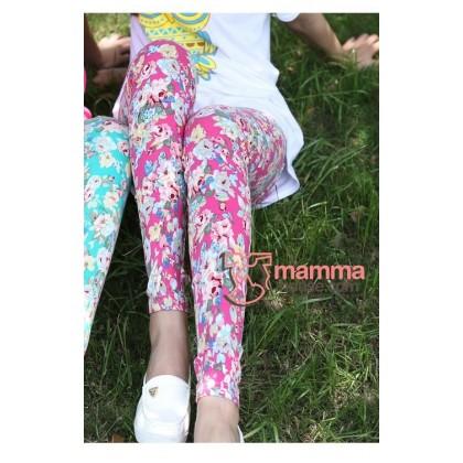 Maternity Pants - Long Flora Pink