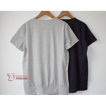 Nursing Tops - JP V Stripe Grey