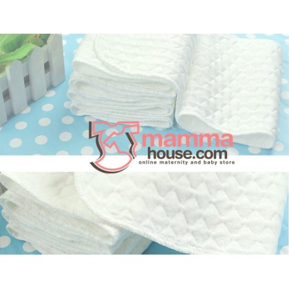 Washable Diaper Insert - Cotton Grid 3 Layer (per pc)