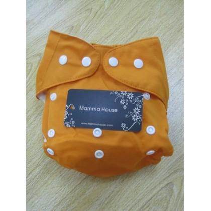 Baby washable diaper - orange