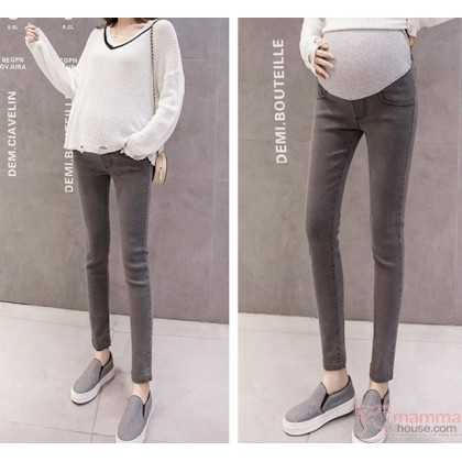 Maternity Jeans - Skinny Fit Grey