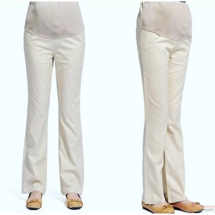 Maternity Pants - Working Trumpet Cream (S,M-3XL)