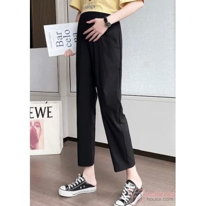 Maternity Pants - Working Linen Ankle Black (S,M-4XL)