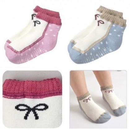 Baby Sock - 2 color girl shoe/pair