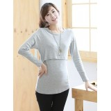 Nursing Tops - Long JP Grey