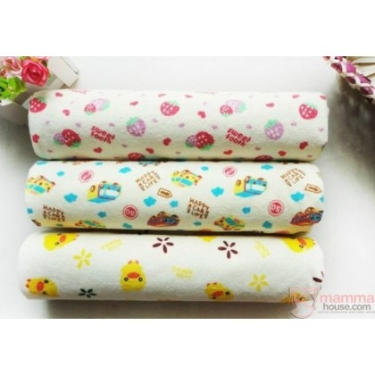 Baby waterproof mat - strawberry (size L)